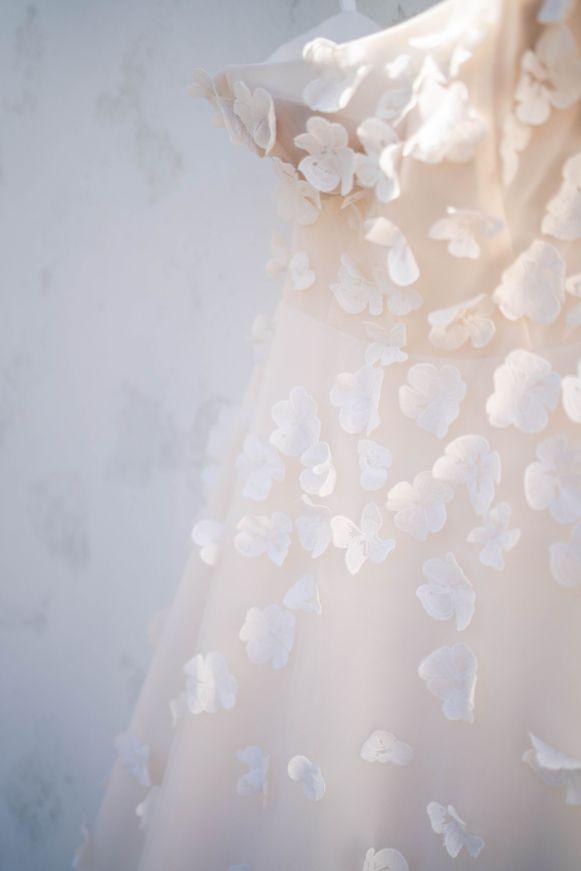 Wedding Dress Floral Detail