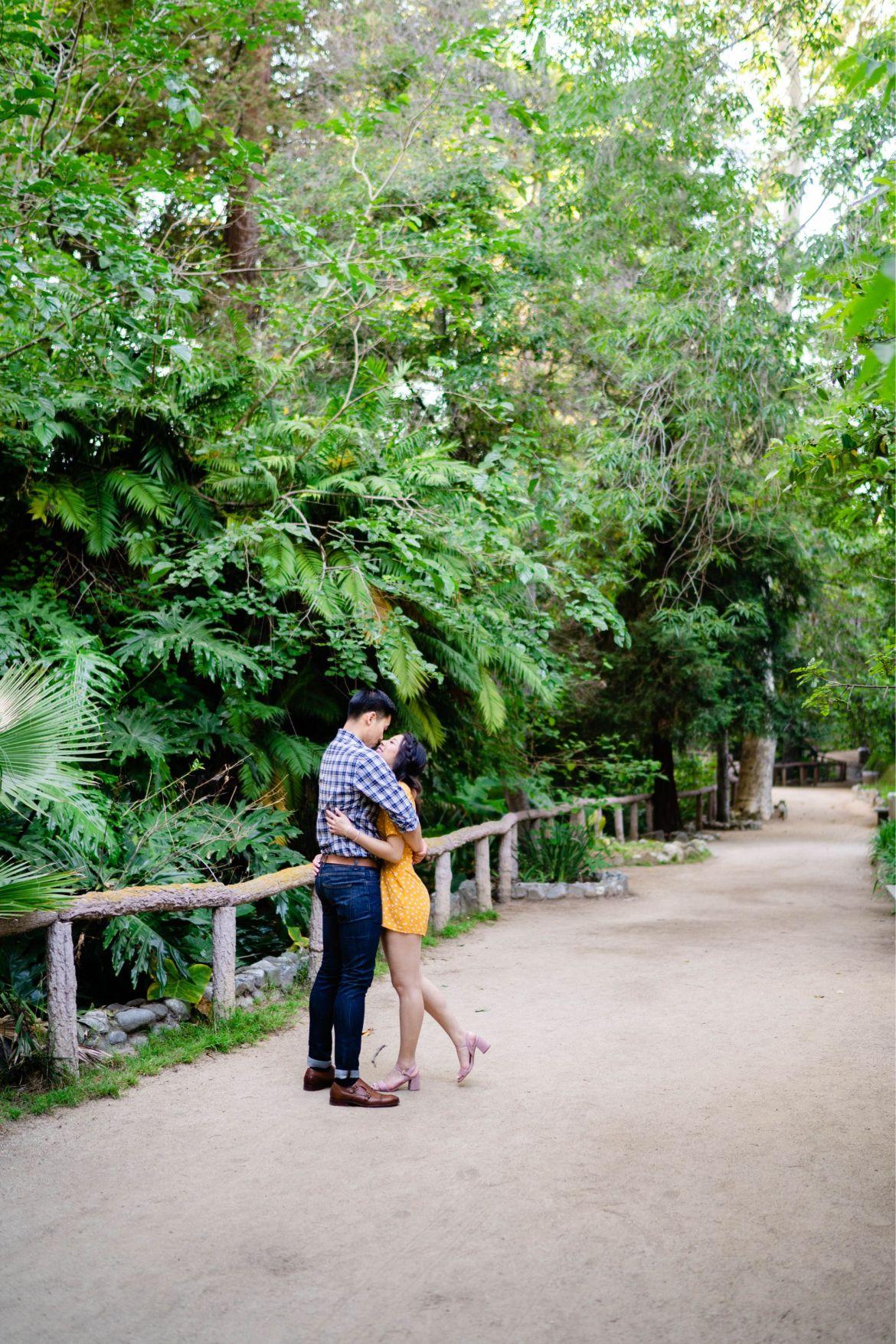 Los Angeles Botanical Garden Engagement