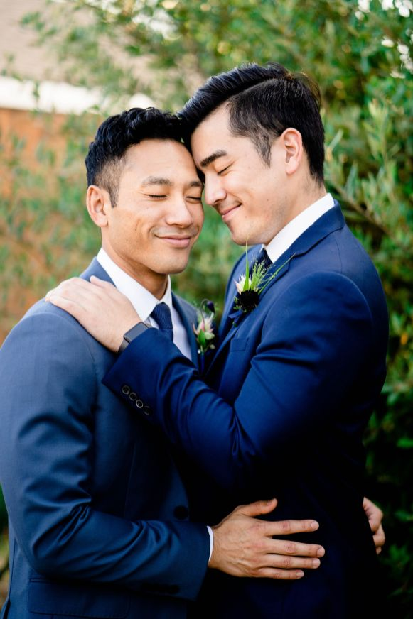 gay couple engagement photo