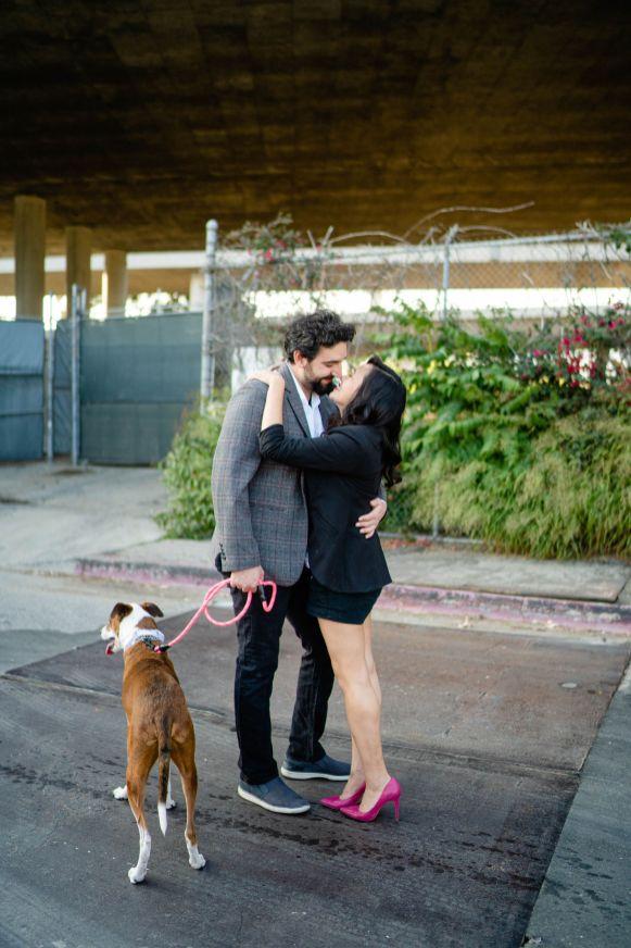 Dog engagement photography
