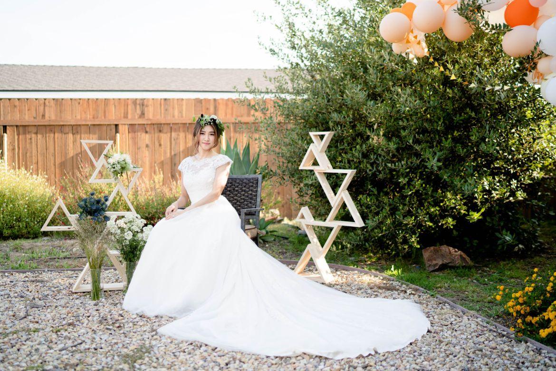 Garden wedding bridal
