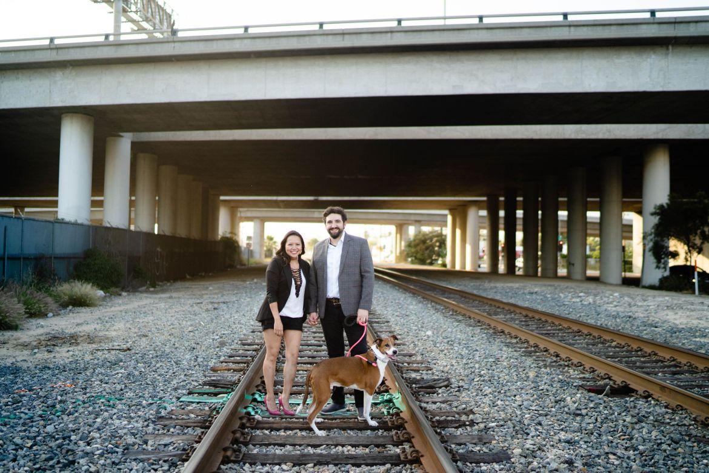 engagement photo rail road