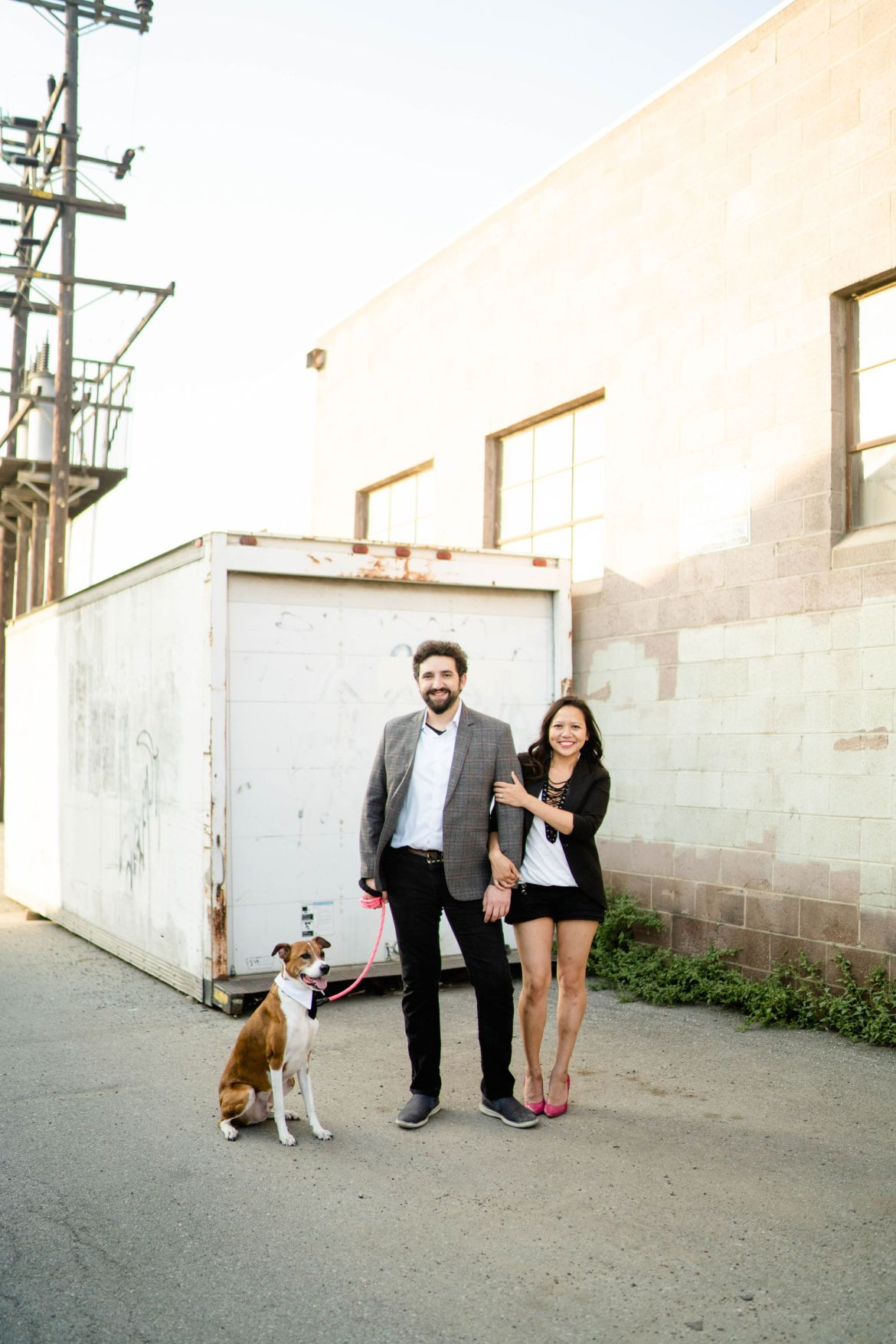 engagement photography with dog