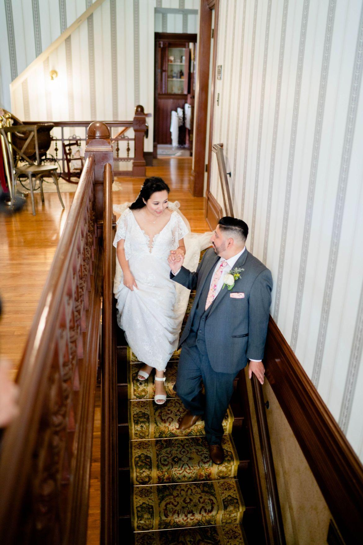 wedding at historical house