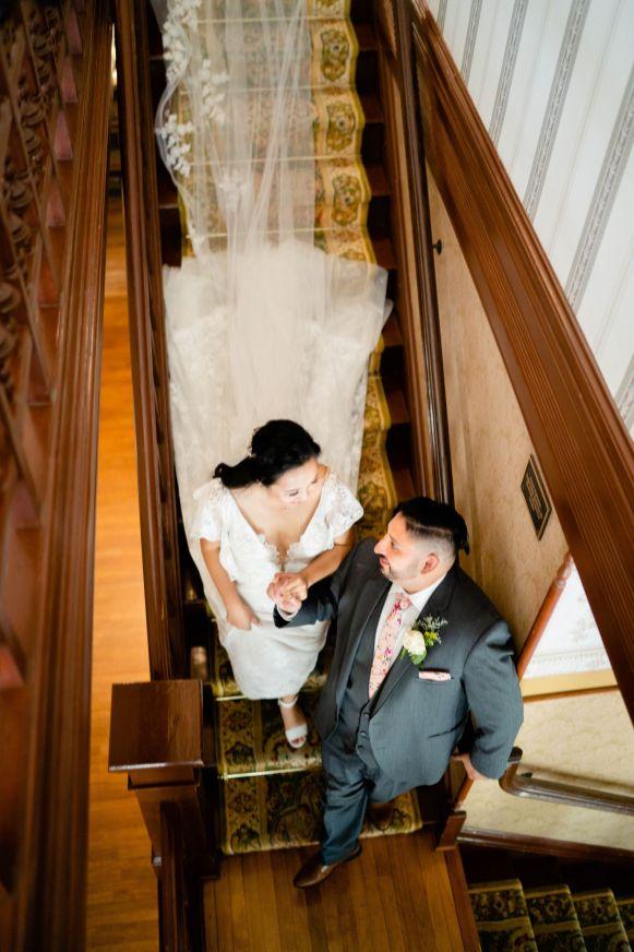 wedding staircase photo
