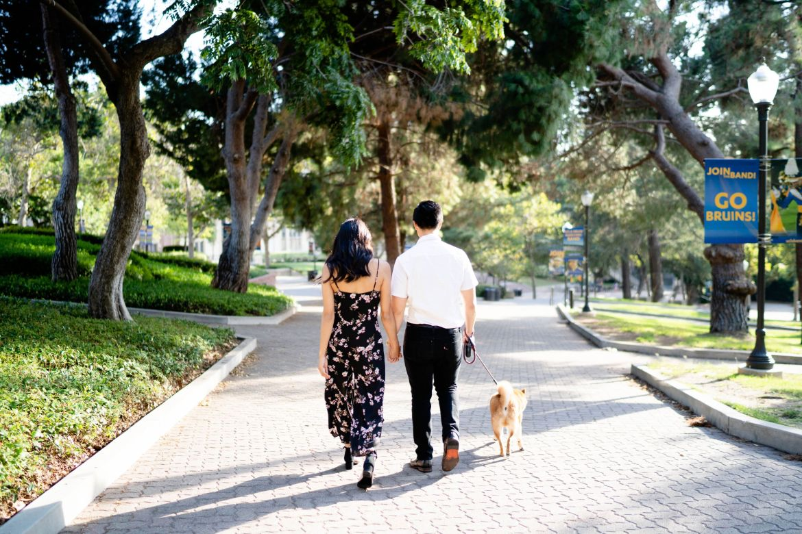 ucla alumni couple photoshoot