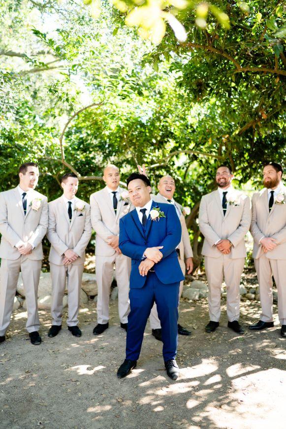 tan suit groomsmen