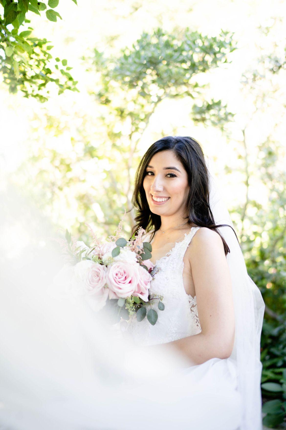 wedding dress veil photo
