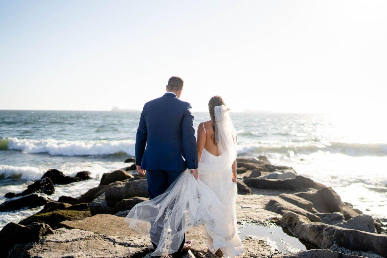 wedding photos at the beach el segundo