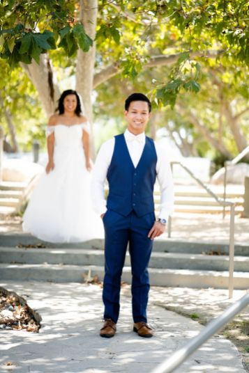 Diamond Bar Center wedding groom first look