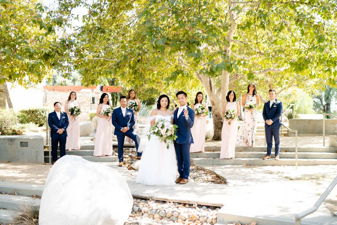 bridal party diamond bar wedding