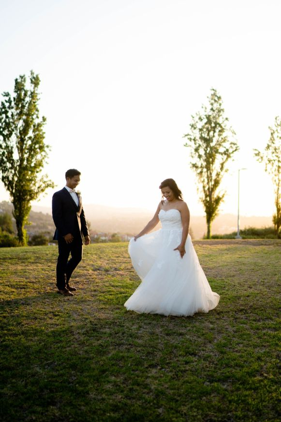 diamond bar golden hour wedding