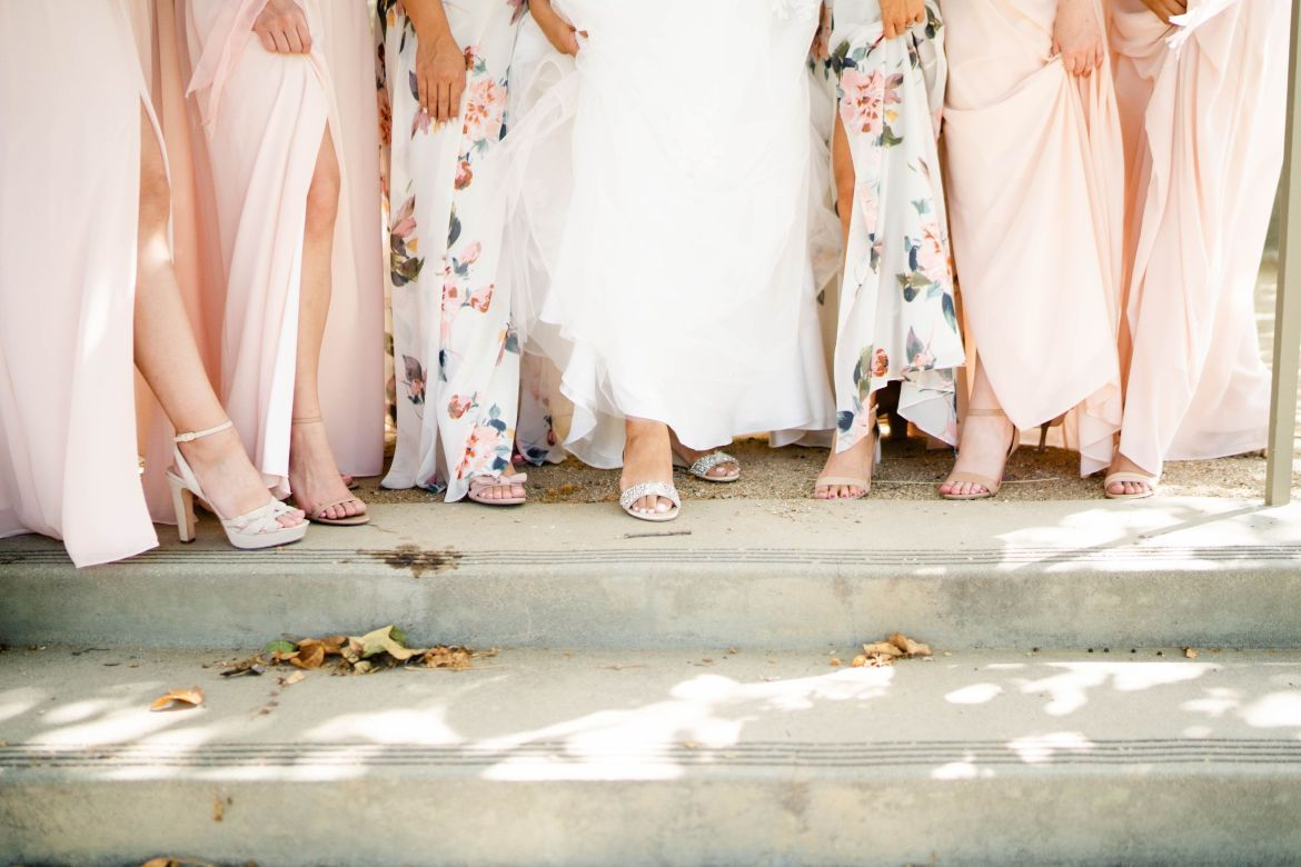 floral bridesmaid dress