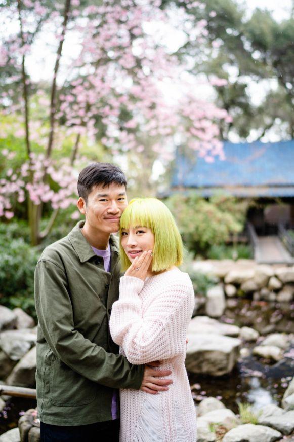 proposing japanese garden