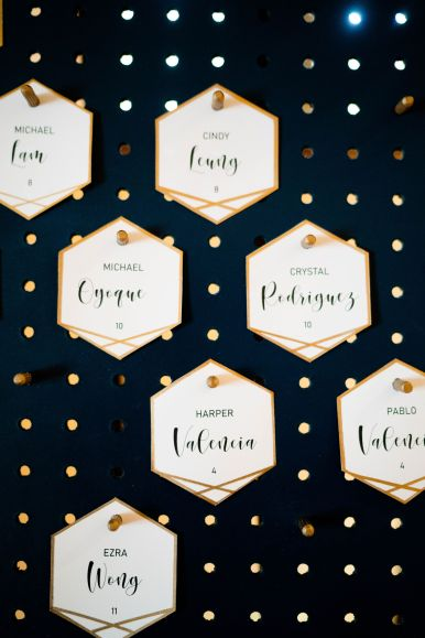 whittier wedding place cards