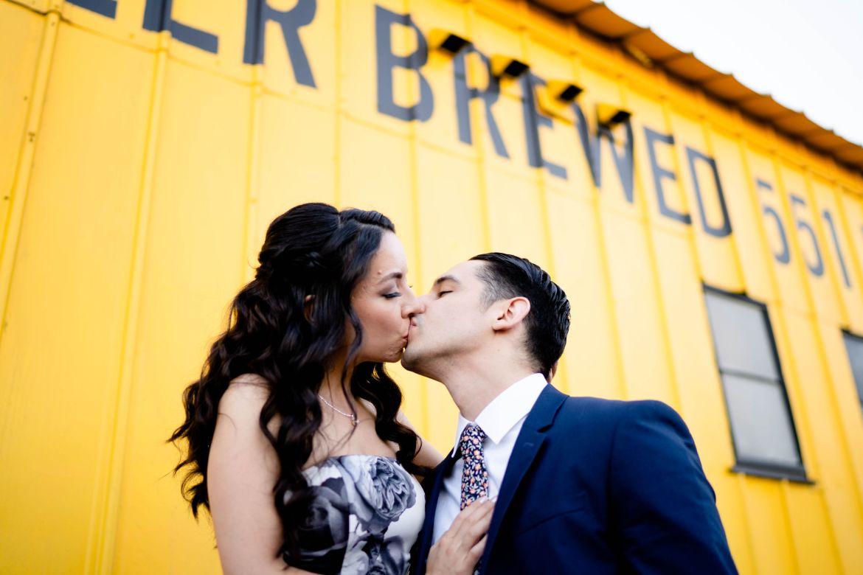 golden road yellow wedding