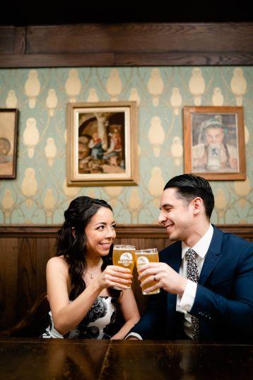 la beer wedding