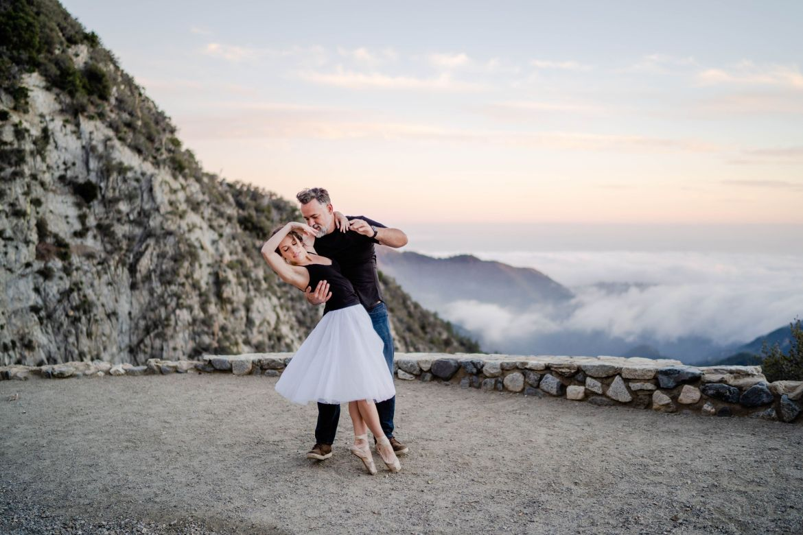 angeles national forest golden hour mountain engagement