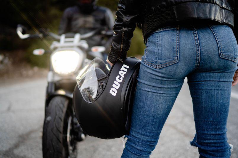 motorcycle girl photo