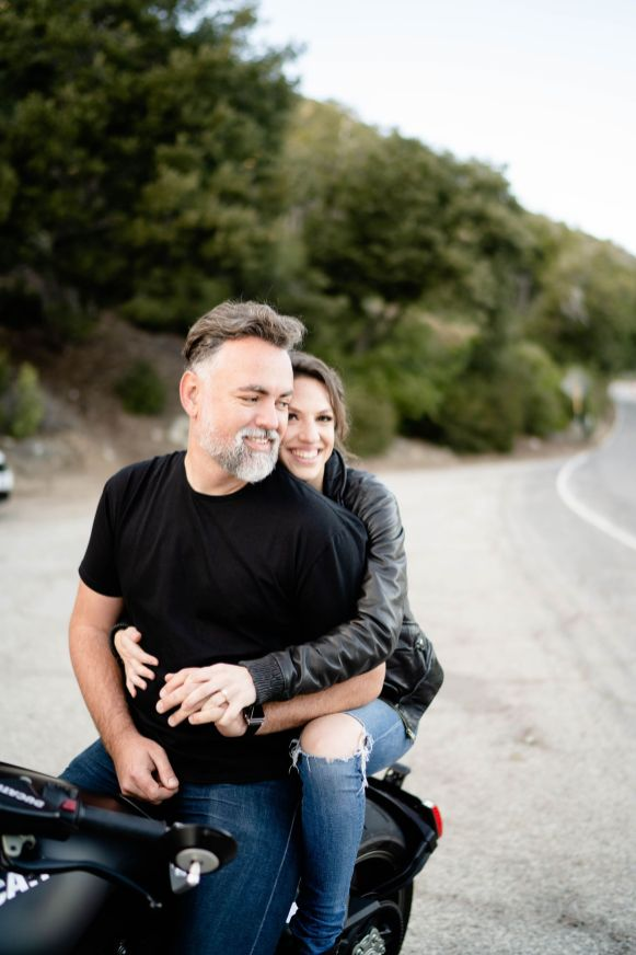 motorcycle wedding photo idea