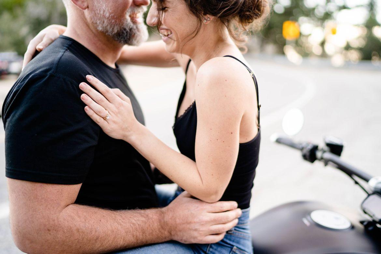 motorcycle wedding photo