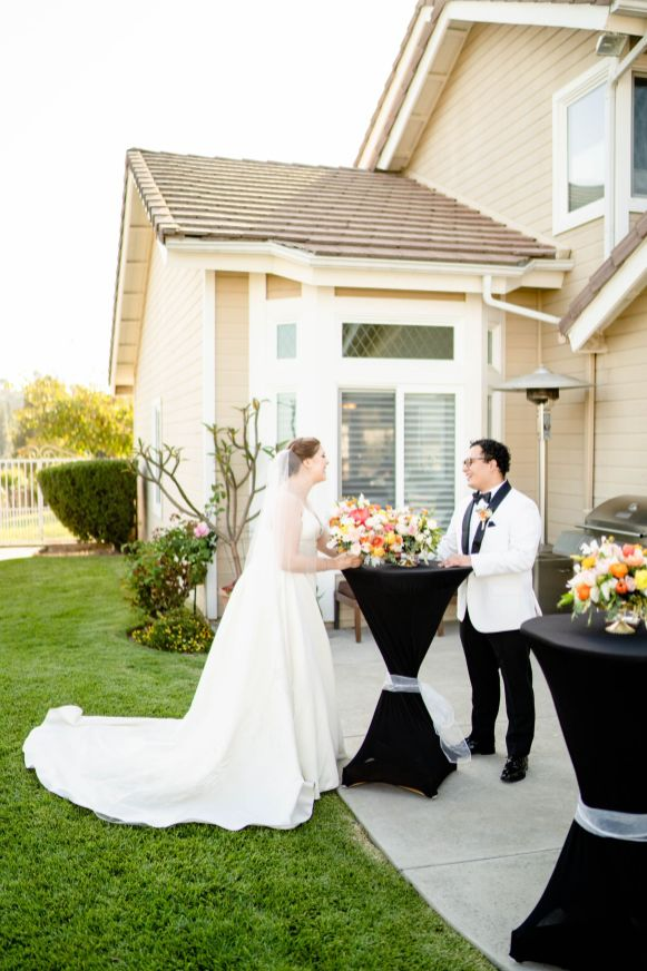 backyard wedding at home
