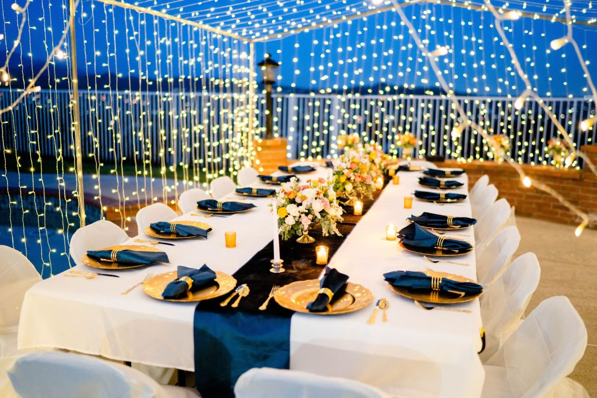 reception backyard wedding ideas