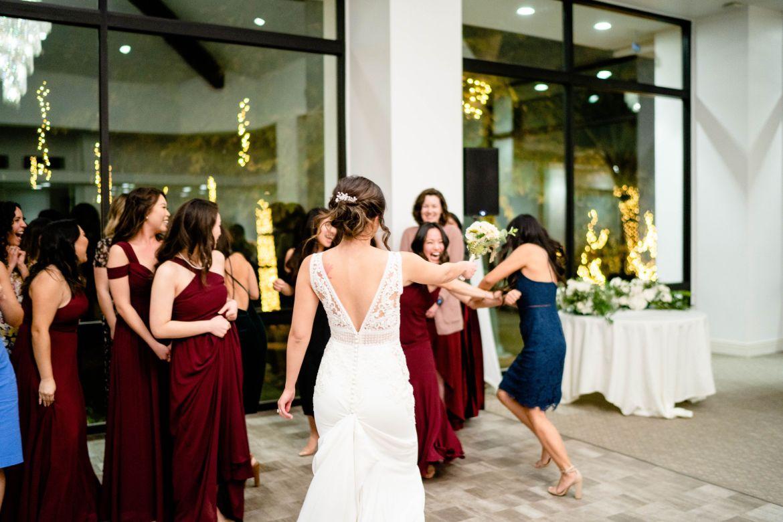 flower toss wedding