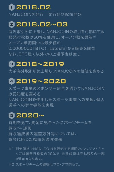 NANJCOIN roadmap