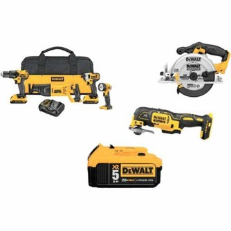 DeWalt 4-Tool 20-Volt MAX* Lithium Ion Cordless Combo Kit with Soft Case