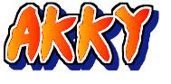 NARUTO風akkyロゴ