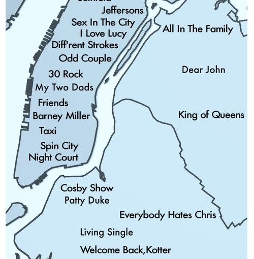 アメリカシトコム地図