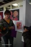 een speciaal gemaakte tekening. Een portret van mij in mijn werkruimte.