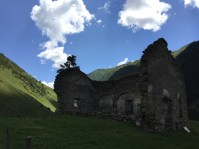 Cory had told me the Tush are Orthodox Christians when they leave Tusheti of the fall/winter and pagan when they're back in Tusheti for the summer. I don't know how much hyperbole is in that, but they still have temples where women aren't allowed, and I've read they still will sacrifice rams for certain ceremonies.