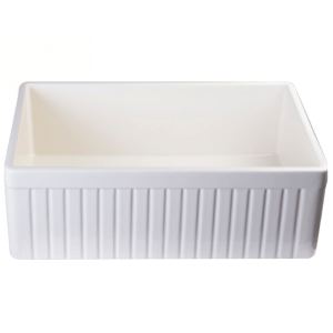 ALFI brand AB509-W Universal 30 Fluted Single Bowl Fireclay Farmhouse Kitchen Sink2