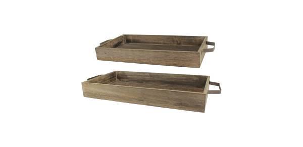 Stonebriar Industrial Wood Trays