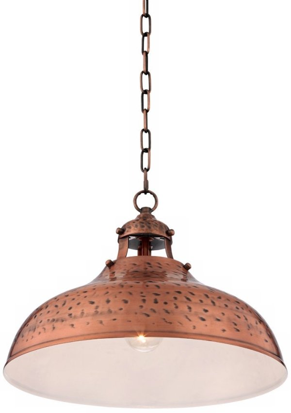 "Essex 16"" Wide Dyed Copper Metal Pendant Light"