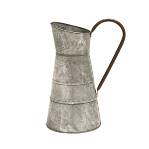 Farmhouse Kitchen Decor on a budget Metal Galvanized Watering Jug