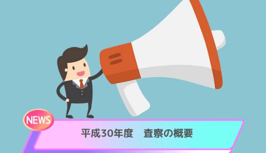 平成30年度 査察の概要【国税庁】