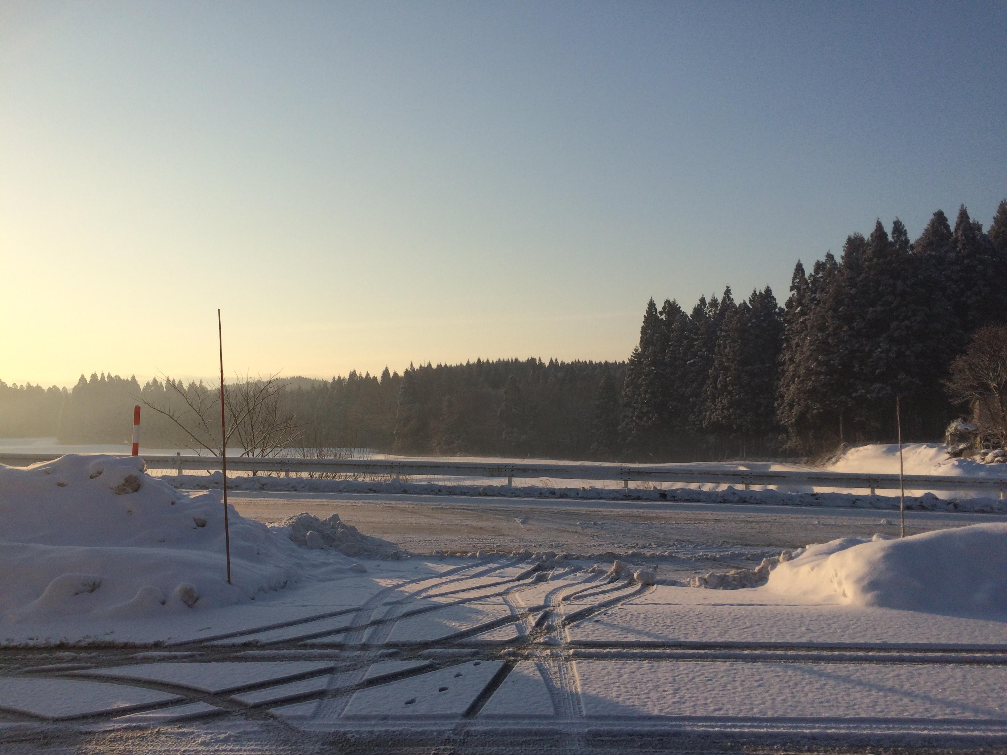 冬の日の朝。