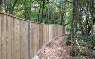 Akita installs 600m of close board fencing