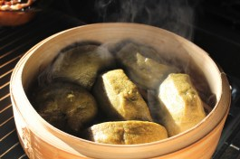 Chinese Matcha Steamed Buns (Mantou)