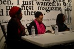 From left, panelists Tyra Owens, Rashayla Marie Brown, and Audrey Petty (Maya Dukmasova)