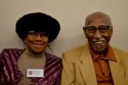 W.E.C.A.N. founder Mattie Butler and Dr. Timuel Black (Maya Dukmasova)