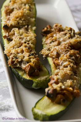 Courgettes Stuffed With Mushrooms