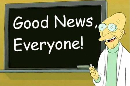 Отличные новости