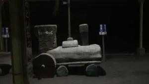 音威子府駅の機関車