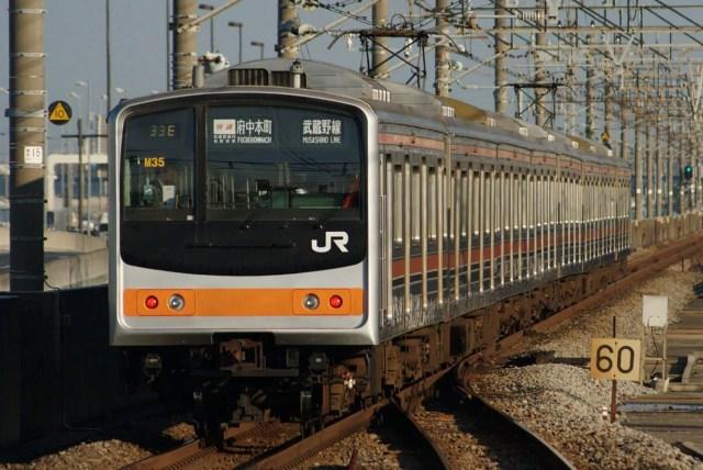 JRE 205 MusashinoLine M35 1024x684 - 【速報】武蔵野線205系、最後のメルヘン顔編成が離脱