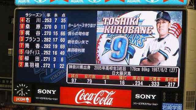 黒羽根利規選手:横浜DeNAベイスターズ