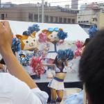 スターマンとキララのパフォーマンス:試合前横浜スタジアム